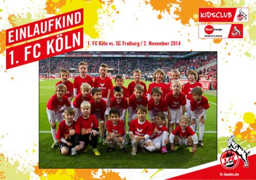 Unsere Kids als Einlaufkinder beim 1.FC Köln